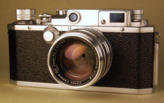 CANON IVSB rangefinder camera with f1.8/50mm lens. Nice working condition. $495.00, via Etsy.
