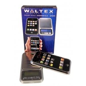 Báscula de precisión digital tipo smartphone. Pesa hasta 500g con una precisión de 0'1g
