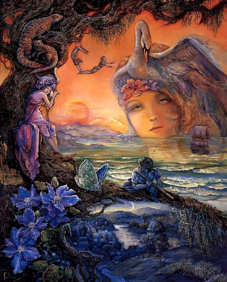 Josephine Wall 1947 ~ Mystical Fantasy painter