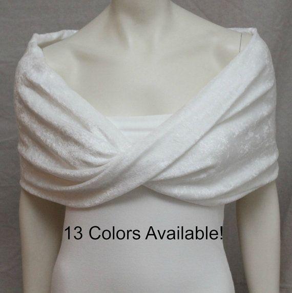 Ivory Velvet Shrug Bolero Bride Bridal Capelet Bridal Stole Bridesmaid Wrap Wedding