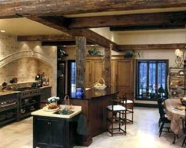 find this pin and more on ideas for home addition french country kitchen design - Log Home Kitchen Design