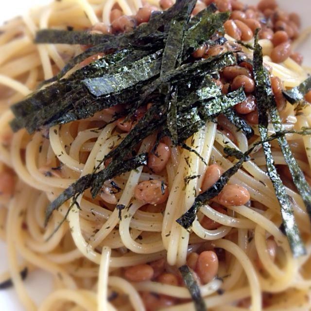 お昼は納豆パスタ ゆかり入り - 10件のもぐもぐ - 納豆&シソパスタ by furateru