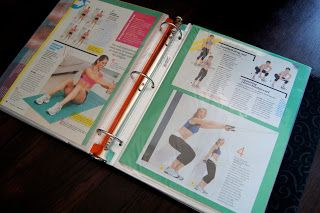 FiTNESS BiNDeR ___Stay Motivated To Exercise & Lose Weight by Keeping this Fitness BiNDeR of Exercises & To Log In Weight Loss ___OrganizingMadeFun.com