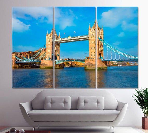 Tower Bridge Wall Art River Thames Wall Decor London Home Decor