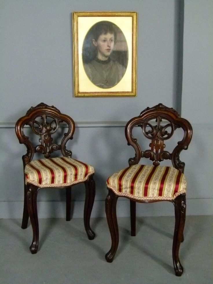 ~ Ornate Pair of Ladies Victorian Bedroom Chairs ~ sellingantiques.co.uk