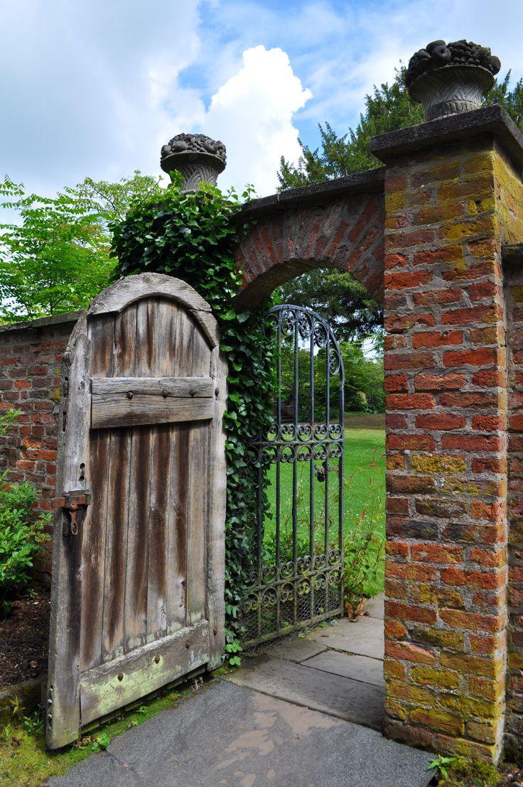 Garden Gate with Weathered Door