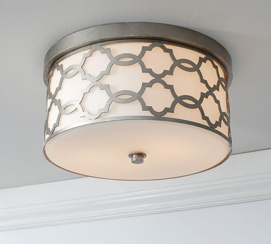 Delphine Trellis Flushmount | Pottery Barn/ Closet Lighting