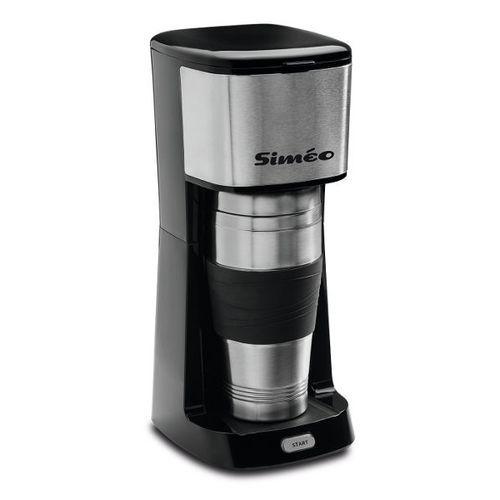Siméo - cafetière isotherme personnel 2 tasses 650w inox - cf120