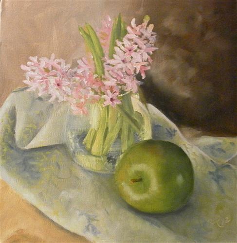 """Apple and Hyacynth"" - Sandra CollinsOil Paintings, Originals Fine, Canvas 12 X12, Art Stil Life, Fine Art, Apples, Artstil Life, Awesome Art, The Roller Coasters"