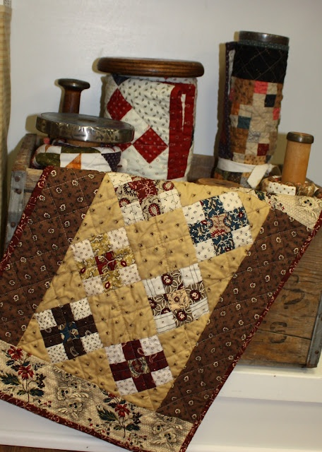 Quilts in jar. This is a very inspiring shop to go to.