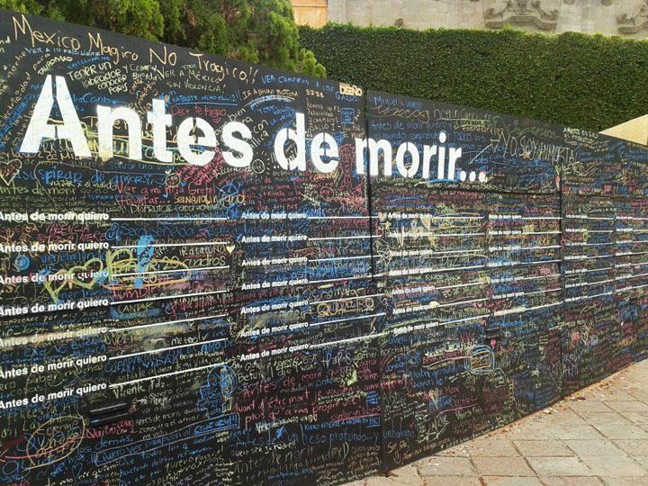 Candy Chang's Before I Die. Oh how I want to do this on the front of our house.