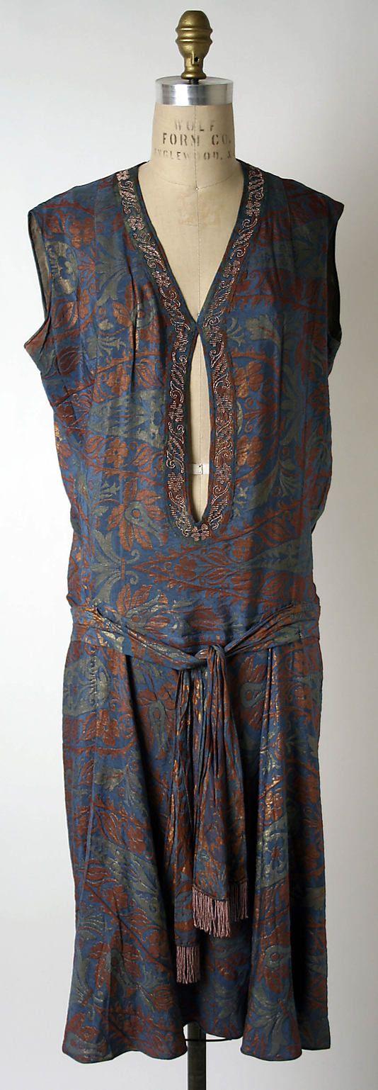 Jean Patou silk dress c.1927-1928