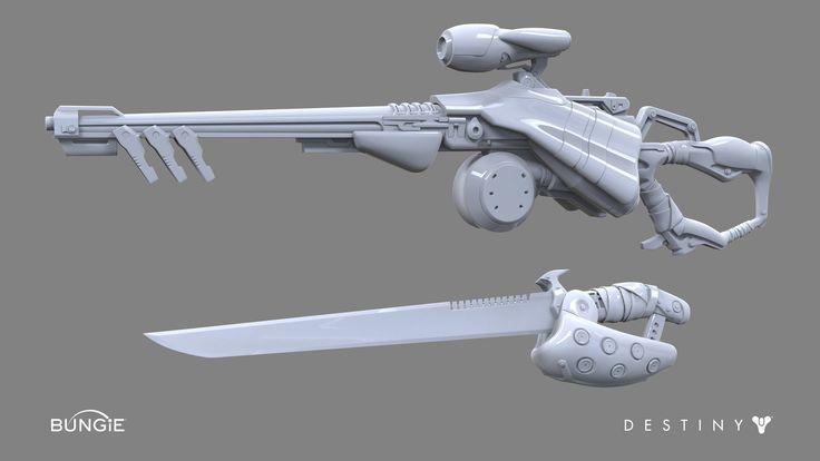 ArtStation - Destiny: Fallen Weapons, David Stammel