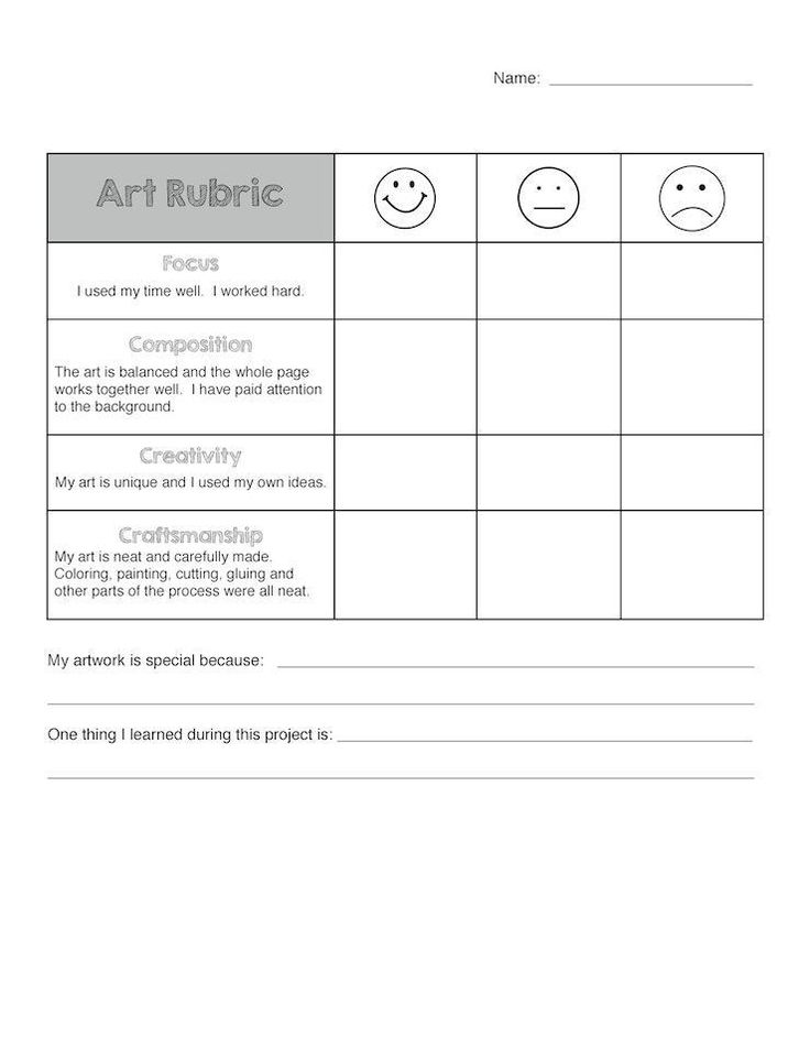 Best Reflection And Assessment Images On   Art Rubric