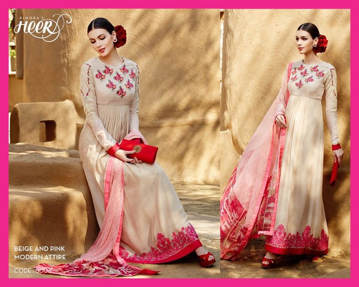 Very Cute Combination of Pink and Cream.. Write us for your enquiries