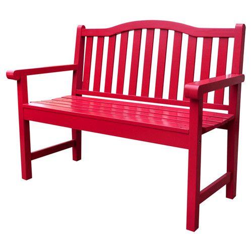 $202 Shine Company Inc. Belfort Wooden Garden Bench Lots Of Bright Colors