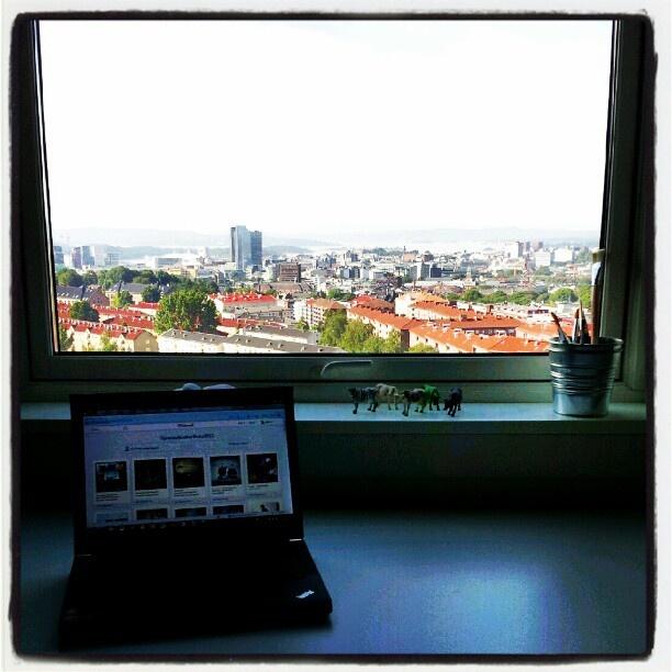 Kick-offbilde! Nå starter jakten på min #SAP jobb. Fint hjemmekontor? - @meretezr- #webstagram