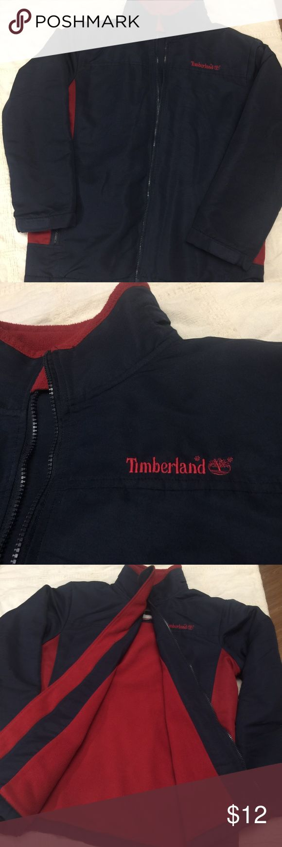 """Timberland Jacket Timberland Jacket.... size XL for teens or young adult. Zippered front closure, 2 side zippered pockets. Flannel lining  throughout Jacket and hands. Label has """"permanent markings"""" to hide my cousins name. Unisex, warm, no tear, or odor! Nice! EUC!! Timberland Jackets & Coats Utility Jackets"""