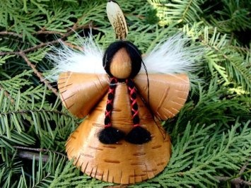 Amazon.com: Angel Christmas Ornament, Handmade From Birch Bark, Limited Quanity Created Each Year, Signed By Artist,: Home & Kitchen