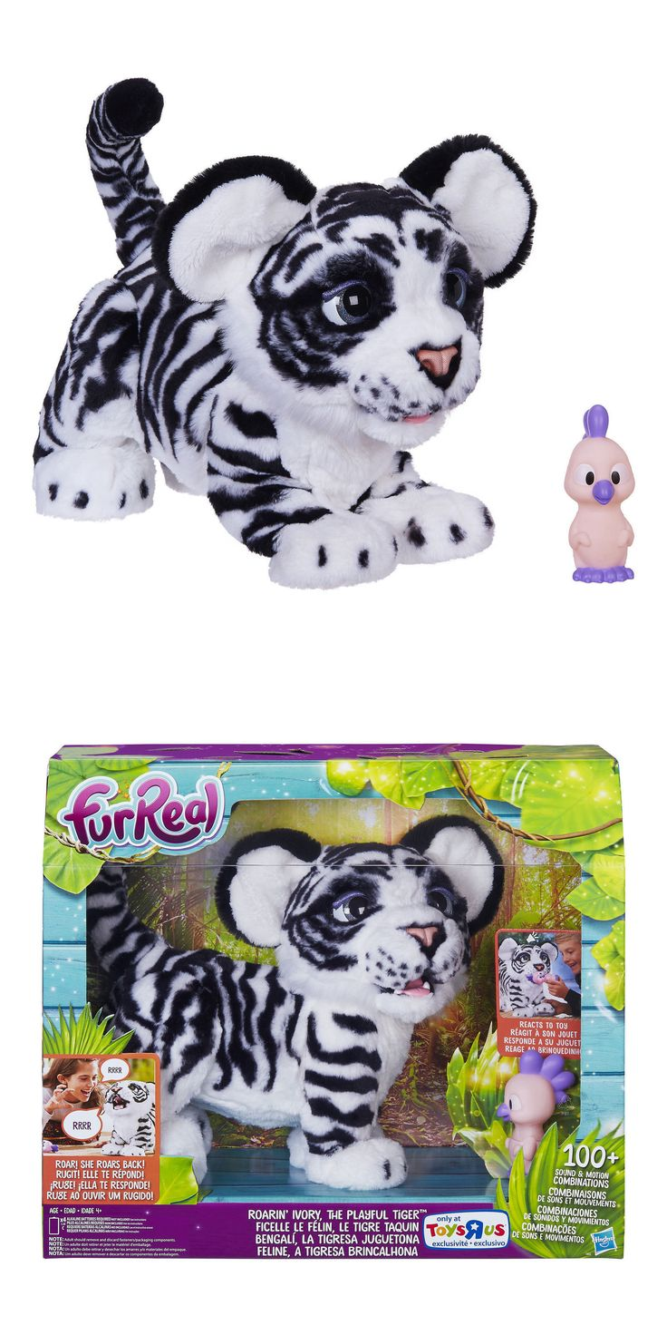 FurReal Friends 38288: Ivory White Furreal Roarin Tyler The Playful Tiger Pet * Fur Real Roaring Cat -> BUY IT NOW ONLY: $158 on eBay!