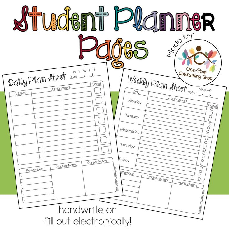 Looking for a way to help your students stay organized? Then check out my newly-added Student Planner Pages! This download contains a weekly and a daily assignment sheetand each page can be printe…