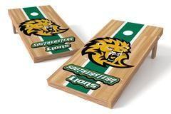 Southeastern Louisiana Lions Single Cornhole Board - Court