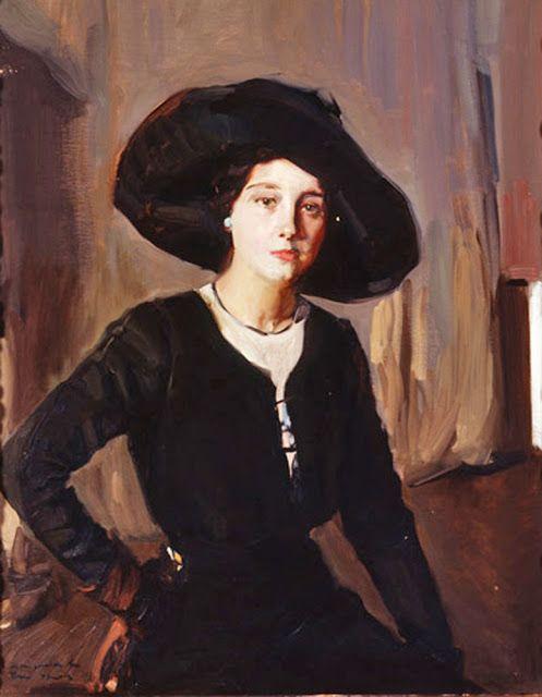Joaquín Sorolla y Bastida - Elena, Portrait with Hat