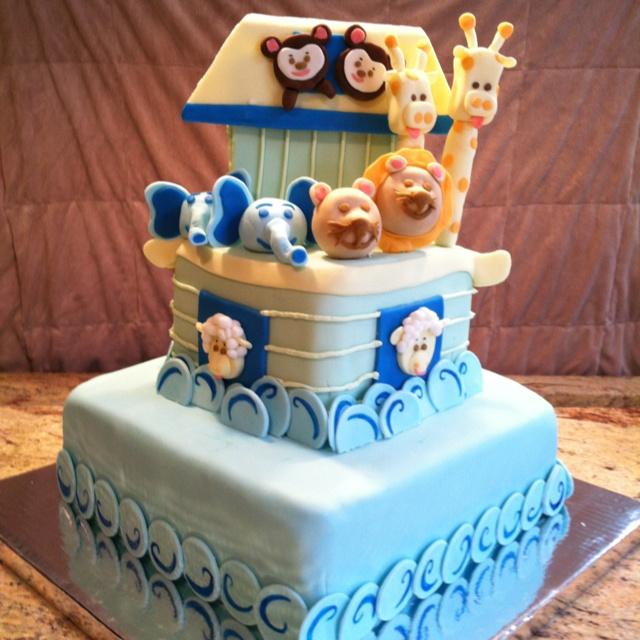 My Noahu0027s Ark Baby Shower Cake