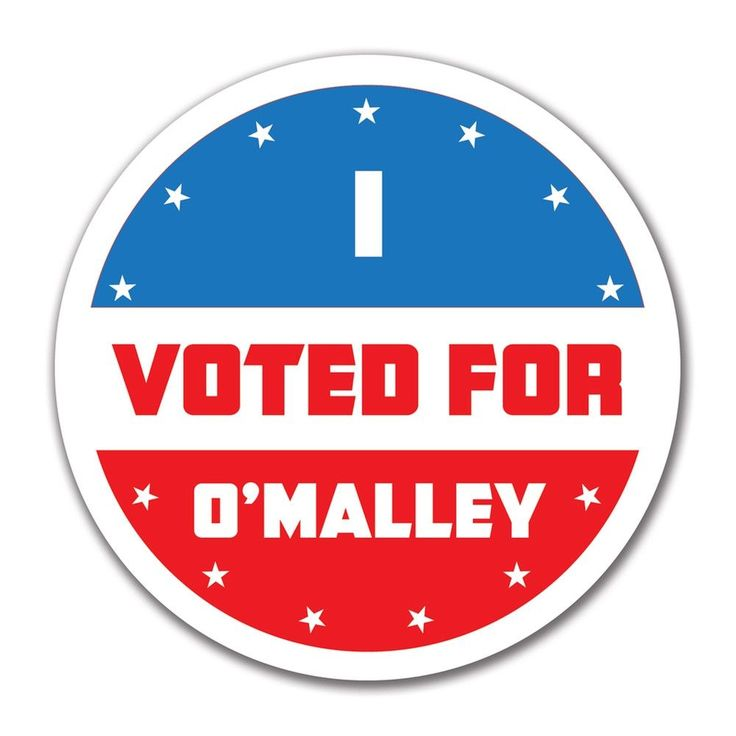 Election 2016 I Voted For O'Malley 4x4 Round Sticker