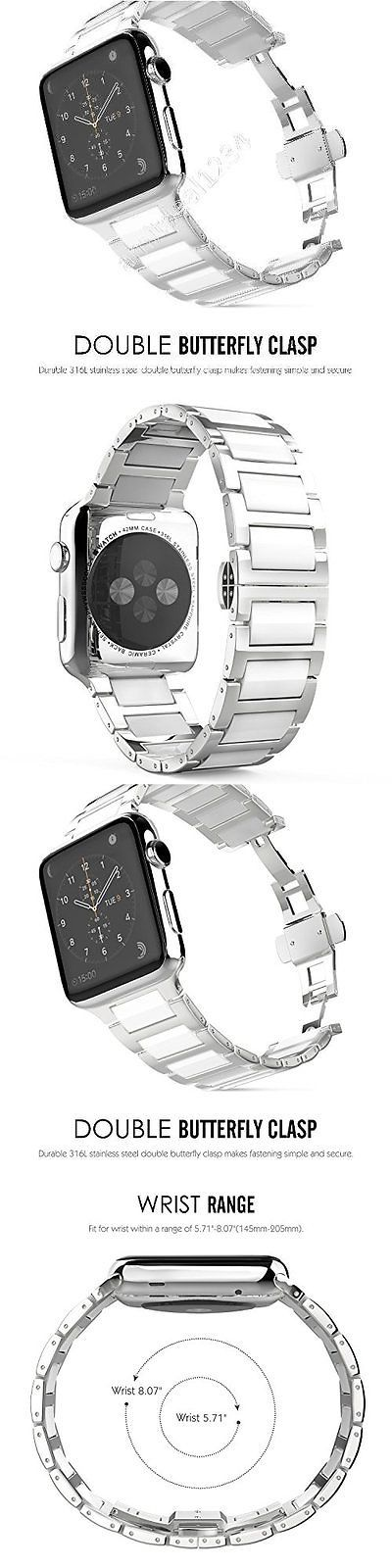 Wristwatch Bands 98624: Silver And White Steel Wristband Band Strap Bracelet For Iwatch 42Mm Apple Watch -> BUY IT NOW ONLY: $38.94 on eBay!