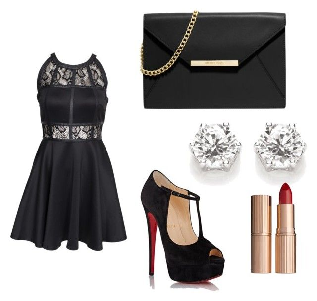 """Little Bad Dress"" by divya-prasana ❤ liked on Polyvore featuring AX Paris, MICHAEL Michael Kors, Christian Louboutin and Charlotte Tilbury"