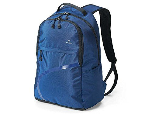 Swiza Daypack Bertus, Ripstop Polyester, 210D PU Poly Pockets Handles, Padded Shoulder Strap, Volume 19 liter