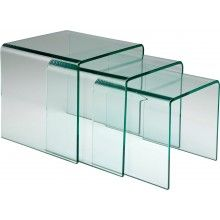 Tables d'appoint Clear Club Gigognes 3/set Kare Design