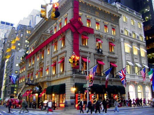 seeing christmas shop windows in new york!