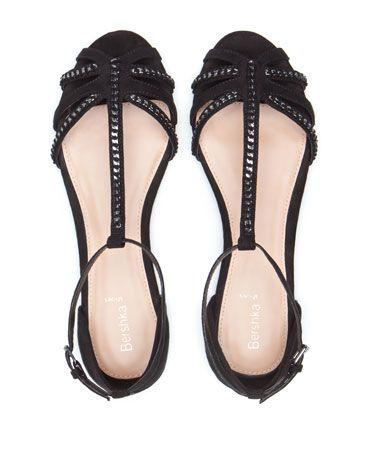 Bershka United Kingdom -Bershka chain detail sandals