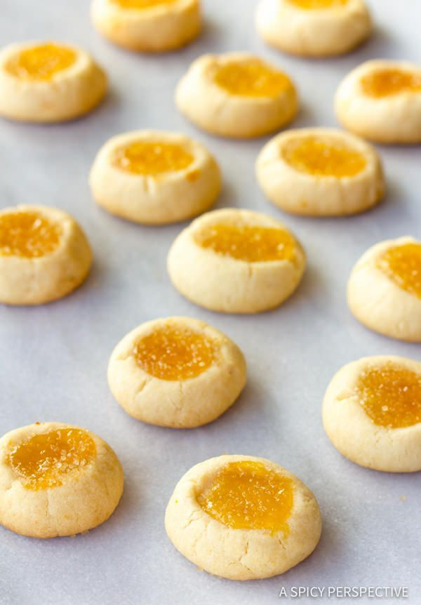 Lemon Drop Thumbprint Cookies | A Spicy Perspective | Bloglovin'
