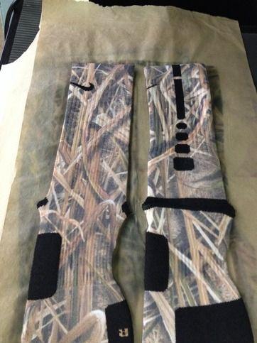Custom Nike Elite Socks Marsh Camo from Sock Insanity on Storenvy