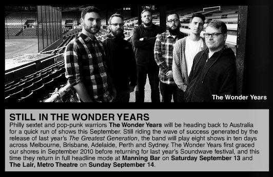 The Wonder Years tour announce September tour - The Brag 18.6