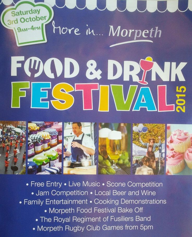 Morpeth Food Festival tomorrow looks like it should be good, we're looking forward to some tasty treats!!