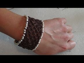 Red rose micro macrame hand embroidery bracelet PART #1 ( DIY) - YouTube