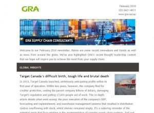 GRA's February Global Supply Chain Newsletter is out