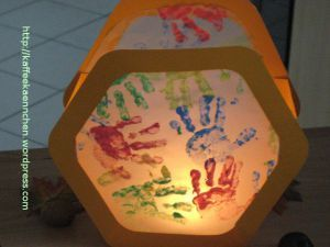 DIY handafdruk lampion