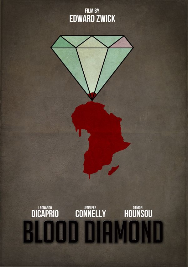 Blood Diamond (2006) ~ Minimal Movie Poster by Pgsqueallove Street #amusementphile