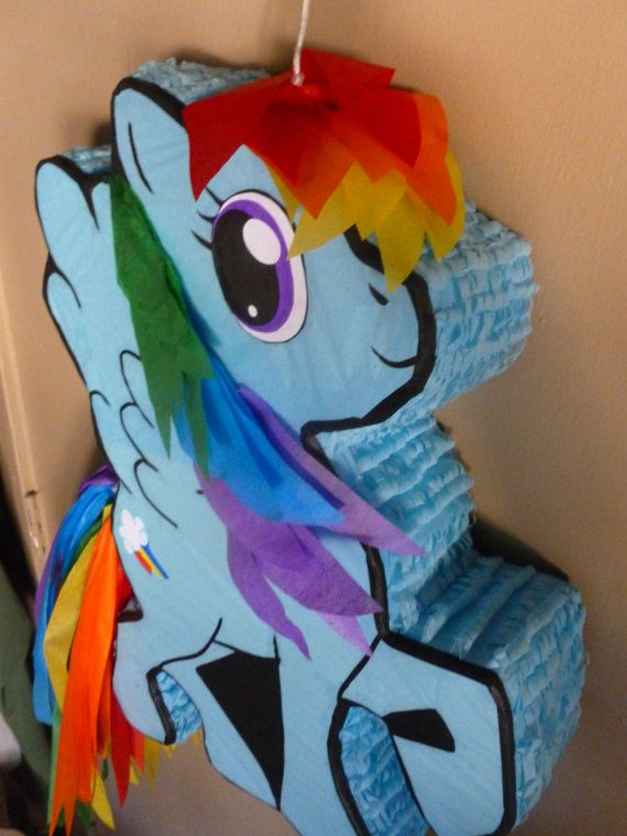 Once again Etsy comes through for me! I got this Rainbow Dash Pinata for Maddy's Birthday!!!