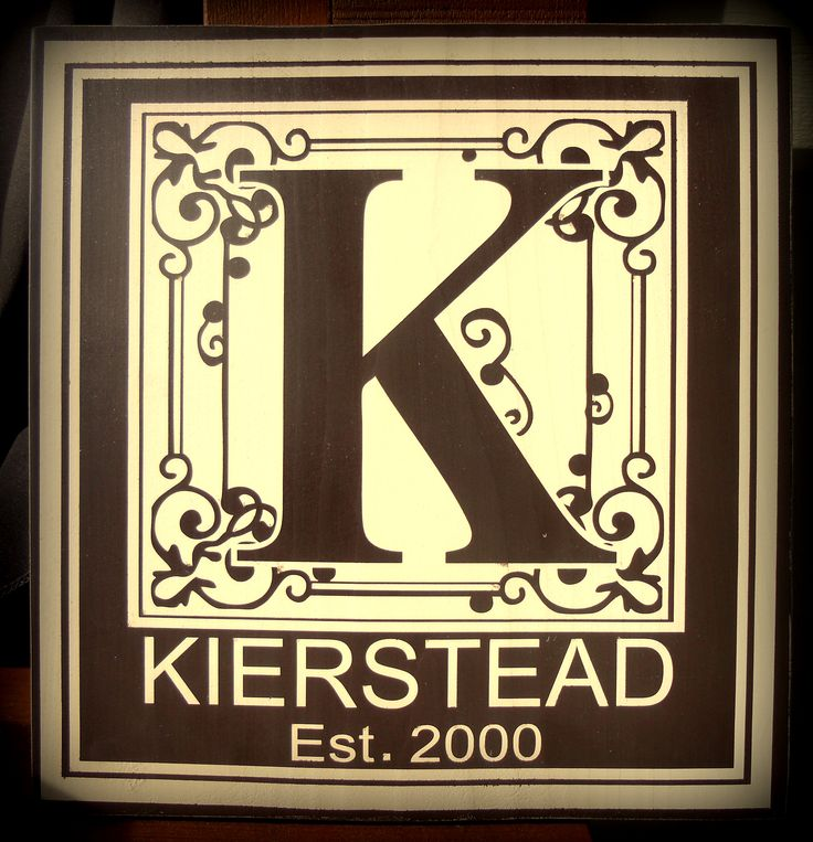 12 x 12 customized name plate