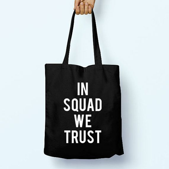 In Squad We Trust Gym Slogan Quote Cotton by PaperTigersApparel