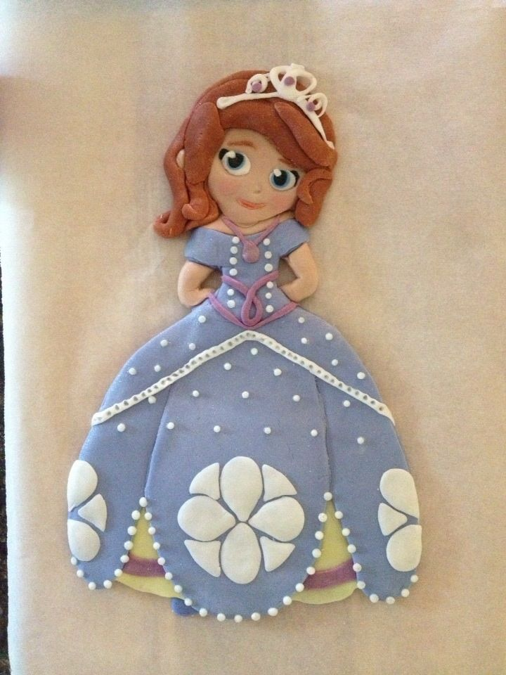 cake fondant princess sofia cake and princess sofia on pinterest. Black Bedroom Furniture Sets. Home Design Ideas