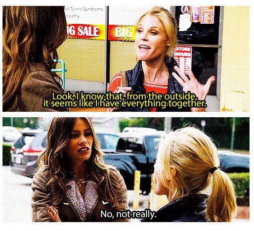 "When she was completely honest with Claire. | 23 Times Gloria From ""Modern Family"" Made Us Burst Out Laughing"