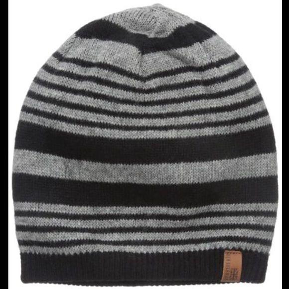 💥SALE💥Ben Sherman Stripe Knit Beanie jet black