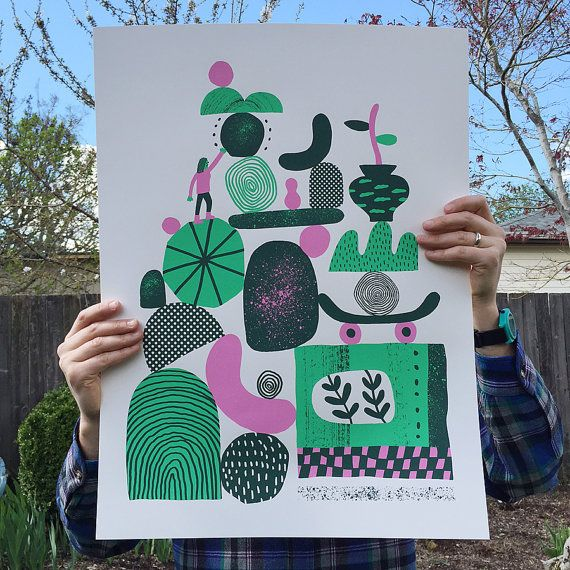 Dream Sprout is a brand new, limited edition screen print from Portland based artist, Ryan Bubnis. Product Specs:  3-color screen print on 100lb natural